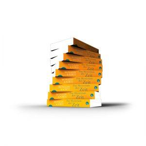 3D Bücherstapel Programmvorschau Aufbau Taschenbuch Herbst