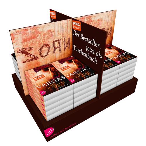 3D Visualisierung eines Bücherdisplays (Aufbau Taschenbuch)